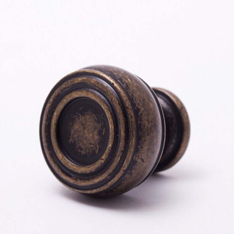 29mm kitchen cabinet Bronze cupboard pull Antique Zinc Alloy Drawer Dresser Wardrobe Furniture Handles Pulls Knobs