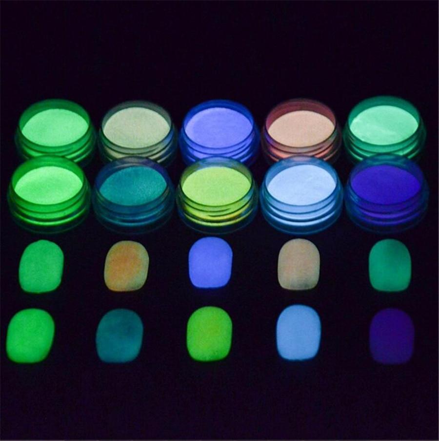 Neon Farbe Phosphoreszierende Leuchtstoff Pulver Glow In Dark Nail Art Staub Maniküre Dekoration GläNzend Nails Art & Werkzeuge