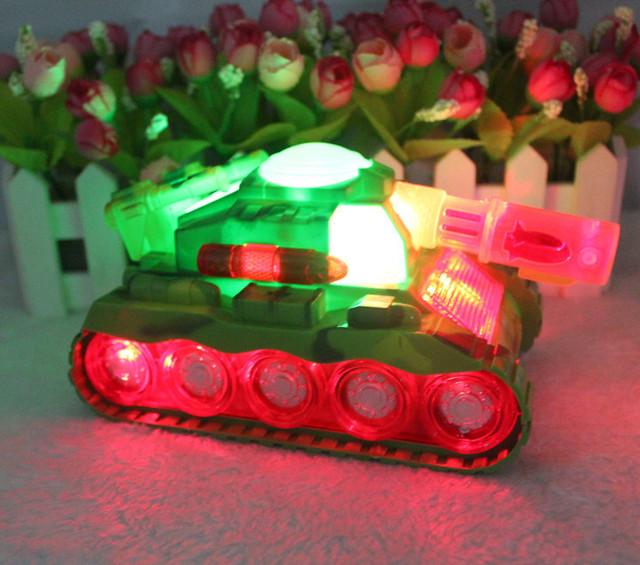 Coche de juguete modelo de Tanque de movilización general brillan con luz música eléctrica tucker creativos de los niños juguetes
