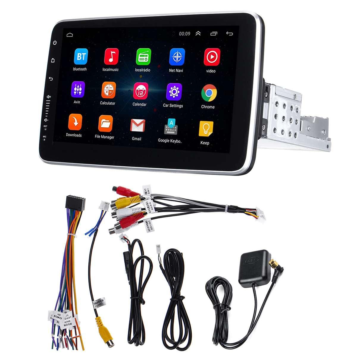 Lecteur multimédia de voiture 10.2 8 Core 1Din stéréo 16/32G pour Android 8.0/8.1 avec écran rotatif de 360 degrés lecteur Radio GPS WiFi - 2