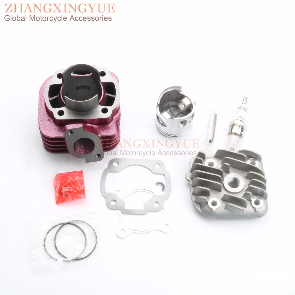 цена 47mm Big Bore Cylinder Kit & E6TC spark plug for Yamaha JOG Vino NEOs Minarell 1E40QMB CY/YJ50 - 47mm/10mm 68cc