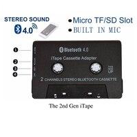 Новейший беспроводной iTape CSR Bluetooth V4.0 + EDR стерео аудио кассетный плеер приемник адаптер может работать во время зарядки монитор для автомоби...
