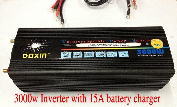 Doxin Inverter 3000W (6000W Peak) UPS 220V AC,12V DC,20A Charger, Household Appliance & Car Power Inverter 3000 Watt Fast Charge doxin 600w car dc 12v to ac 220v power inverter silver