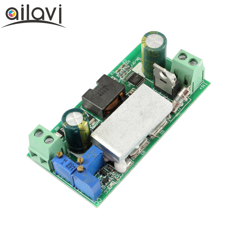 DC-DC Power Supply Buck Module LED Driver 10A Adjustable Constant Voltage Constant Current Power Supply Board With Turn Light