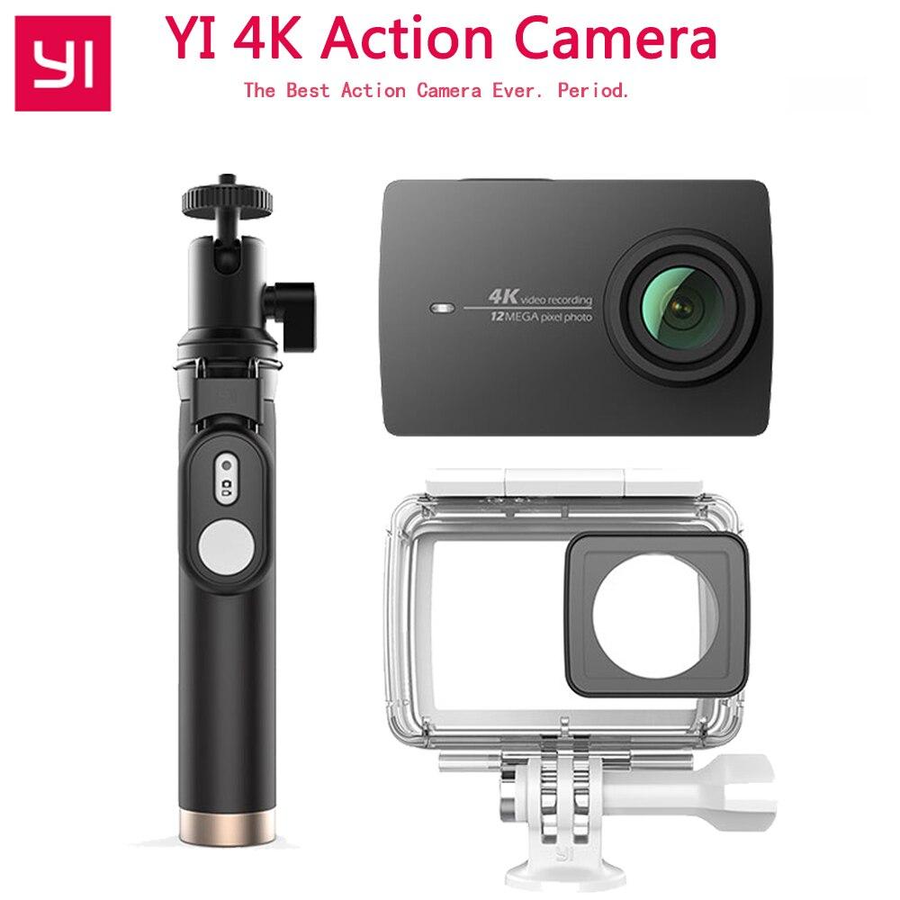 YI 4K Action Camera 4K/30 2.19 Retina Screen Remote Control HD IMX377 12MP 155 Degree EIS LDC Xiaomi YI Sport Action Camera