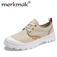 merkmak Casual Canvas Shoes Male Winter Lace Up Flat Fashion Lace up Shoes Casual Summer Shoes for Men Sneakers Shoes 2018 New