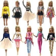 NK новейшее платье для куклы модная повседневная одежда ручной работы наряды для куклы Барби аксессуары Лучшие DIY игрушки для куклы JJ