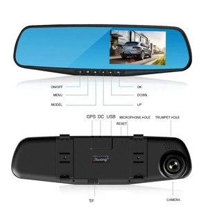 """Image 4 - Jiluxing H03S 4.3 """"FHD 1080P araba dvrı çift Lens araç kamerası arkadan görüş ayna Video kaydedici Dash kamera otomatik gece görüş"""