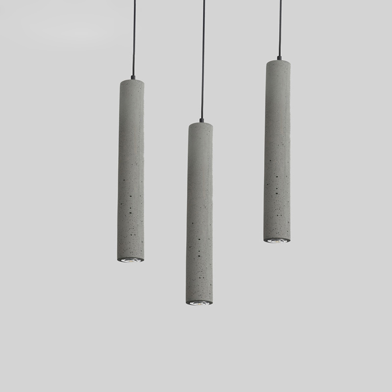 Modern Simple Single Head Cement Hanging Lamp Creative 3W LED Pendant Light Restaurant Bar Coffee Shop Fixture Lighting PL574 restaurant cafe meal of lamps and lanterns hanging lamp is acted the role of single head 3 lemon meal hanging lamp