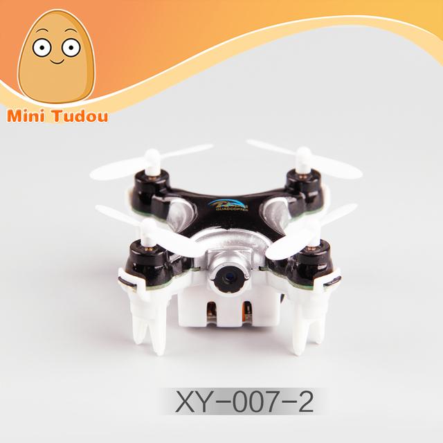 Minitudou 2016 Chegada Nova Mini Quadcopter 6-Axis Zangão Com Câmera WI-FI HD 2.4G 4 Canais RC Helicóptero de Controle Remoto brinquedos