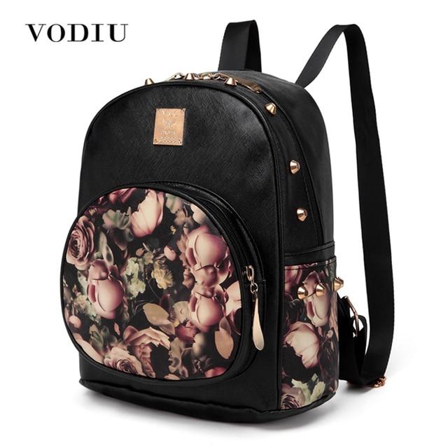 women backpack school bag rivet teenage backpacks for girls ...