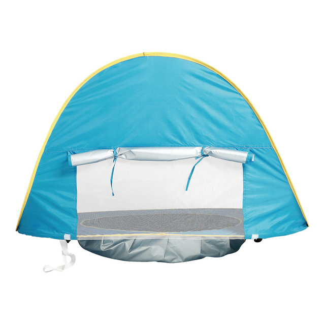 Children's Tent Baby Beach Tent UV-protecting Sunshelter with Pool Waterproof Pop up Awning Tent Kids Outdoor Camping Sunshade 2