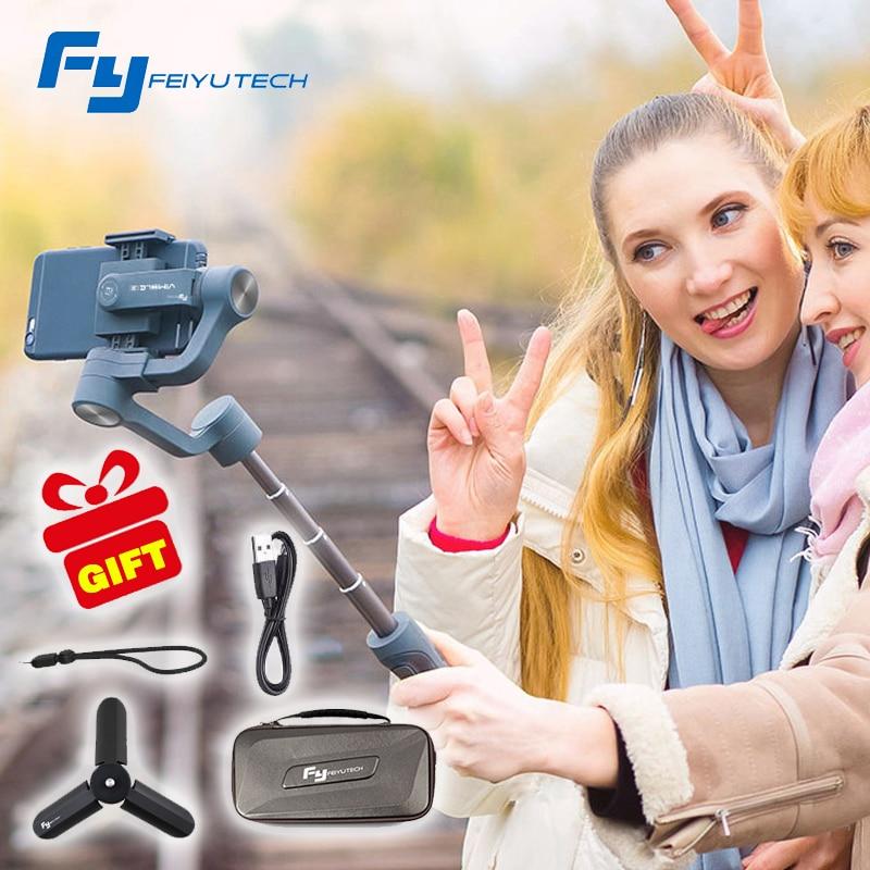 Feiyu vimble 2 vimble2 Smartphone 3-Axis Handheld Gimbal estabilizador para iPhone X Gopro Hero sjcam xiaomi PK Zhiyun Smooth Q