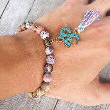 Natural Stone Tassel Bracelet