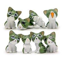 8Pcs Cute Chi'S Sweet Home Cartoon Toy PVC Cartoon Animals Cheese Cat Action Figure 3-4CM Kids Children Birthday Christmas Gift