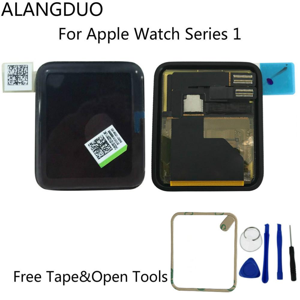 Prix pour Alangduo testé origine pour apple watch série 1 écran lcd écran tactile digitizer assemblée 38/42mm version + adhésif + outils