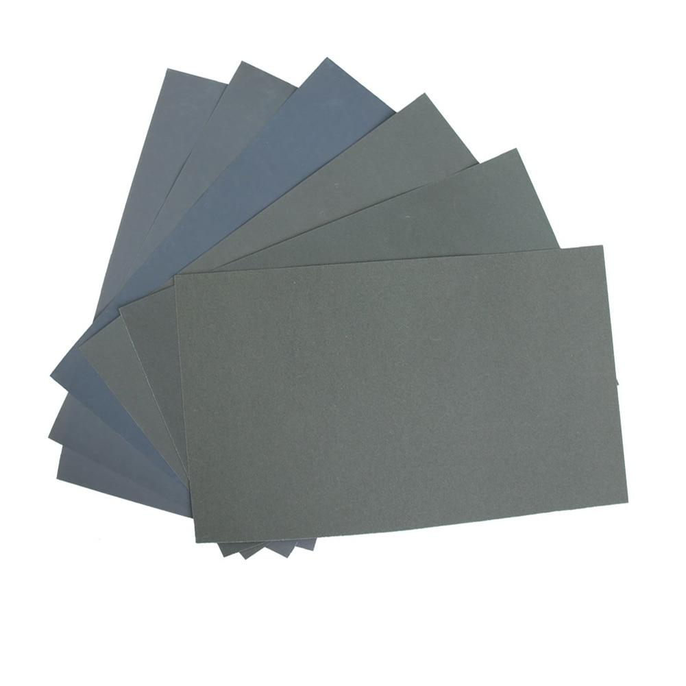 New Hot 6 Pcs/Set Sand Paper Waterproof Abrasive Papers P600/1000/1200/1500/2000/2500