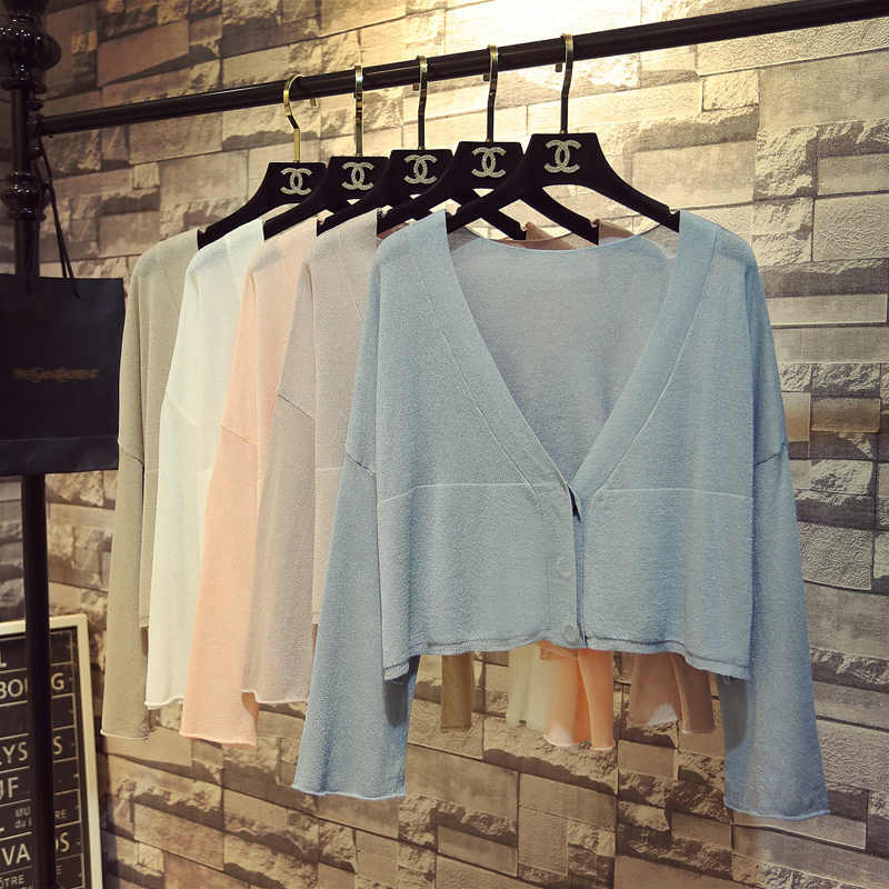 Новые осенние женские кардиганы с длинным рукавом сексуальный прозрачный шелк вязаный шаль свитера пальто женский тонкий элегантный тонкий короткий кардиган SF1242