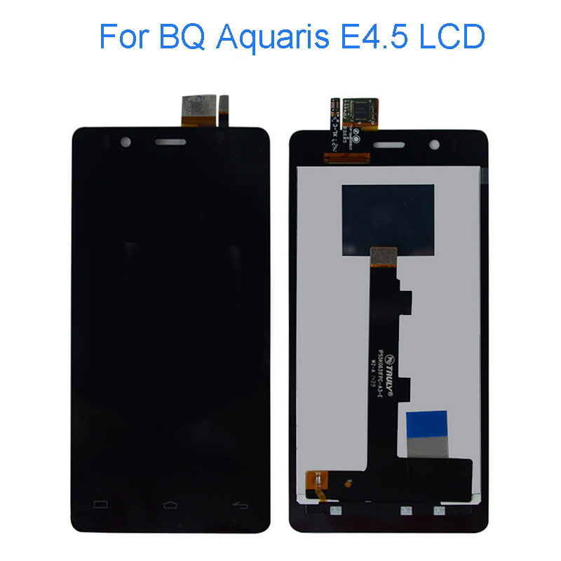 Original LCD Display And Touch Screen digitizer Assembly for BQ Aquaris E4.5 LCD Free Shipping Black