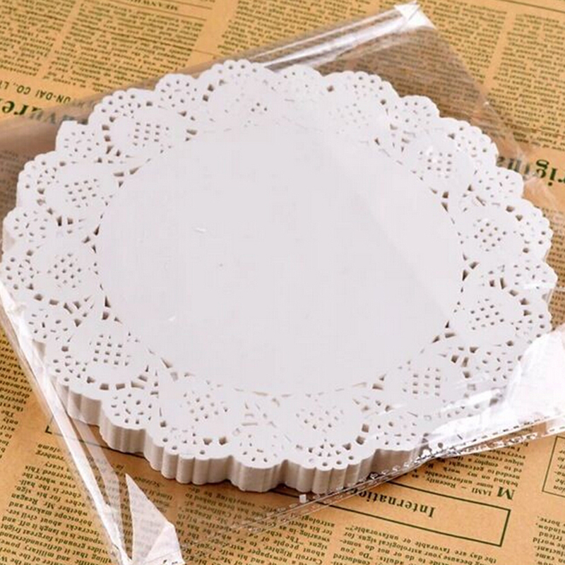 """50pcs1pack 65"""" inch white paper lace doilies card making"""