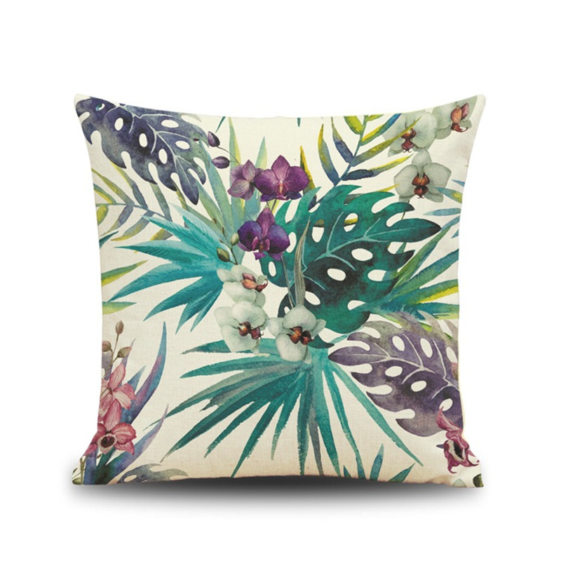 Africa colorful Tropical Plant Banana Leaf Pillow Case Cushion Cover Home coffee shop house Decorative for sofa car seat gift