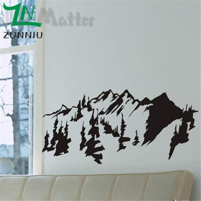 k003 landscape landscape wall stickers mountains trees wall art