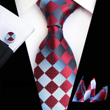 71 Colors 100% Silk Tie Set for Men Plaid Necktie S