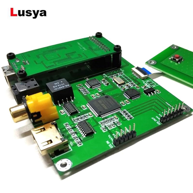 Amanero Digital Interface XMOS Interface Audio Decoder Preamp USB DAC board Sampling Rate Display AK4118 SPDIF