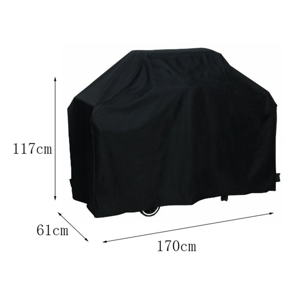 ▽170*61*117M Black Waterproof Bbq Cover Outdoor Rain Barbecue Grill ...