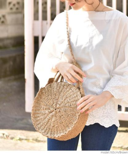 Straw Retro Lady Bag Rattan Women Round Handbag Vintage Knitted Messenger PurseStraw Retro Lady Bag Rattan Women Round Handbag Vintage Knitted Messenger Purse