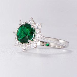 Image 3 - Kuololit Luxe Spinel Emerald Ringen Voor Vrouwen 925 Sterling Zilveren Sieraden Engagement Wedding Mei Birthstone Ring Romantische Gift