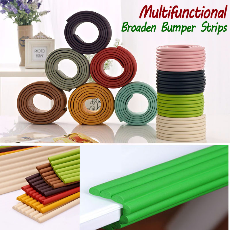 Multifunctional 2M Broaden Super Soft Resilient Bumper Strips Glass Table Edge Corner Guards Cushion Strip Baby Safety Products