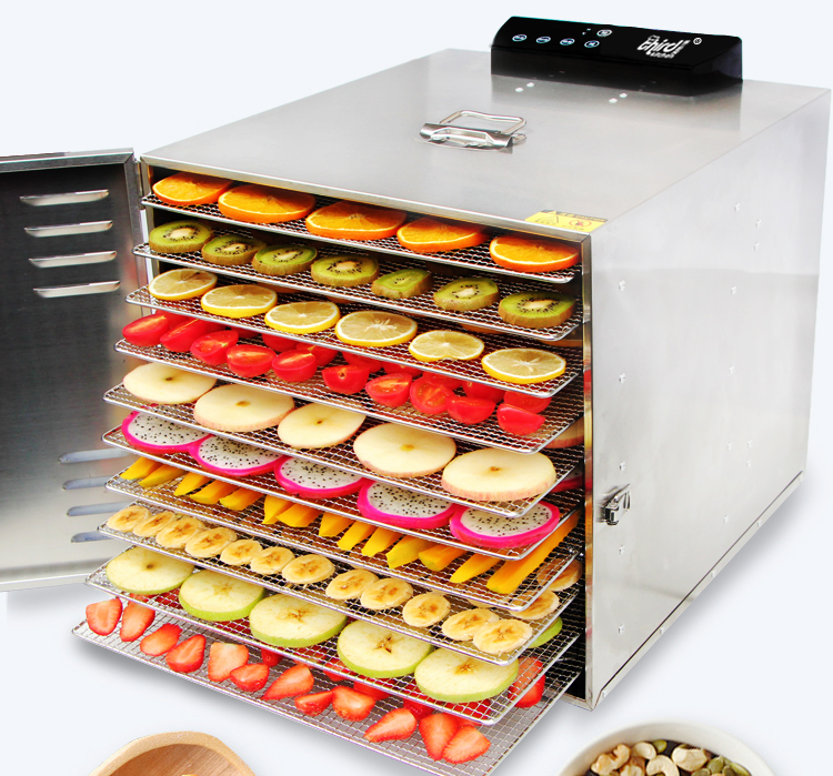 12 Layers Stainless Steel Snacks Food Dryer Fruit Dehydrator Commecial Large Capacity Fruit Vegetable Herb Meat Dryer 10 layers stainless steel electric fruit vegetable dehydrator food dryer machine