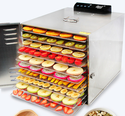 12 Layers Stainless Steel Snacks Food Dryer Fruit Dehydrator Commecial Large Capacity Fruit Vegetable Herb Meat Dryer