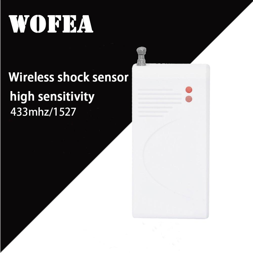 Wofea Wireless Shock Sensor Vibration Detector 433mhz 1527 330K To Work With GSM Wifi Alarm