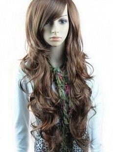 StrongBeauty Light Brown Women s Long Wavy Synthetic Wigs