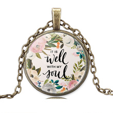 Christian Jewelry It Is Well With MY Soul Pendant Necklace