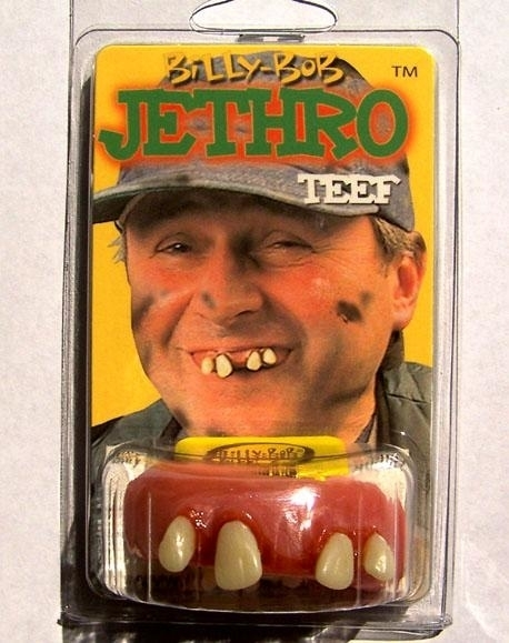 FAKE JETHRO TEETH #949 gapped tooth crooked funny joke dress up party gag gift