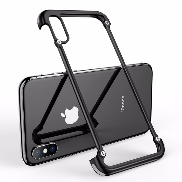iPhone X Luxury Shockproof Metal Bumper Airbags Back Case Cover