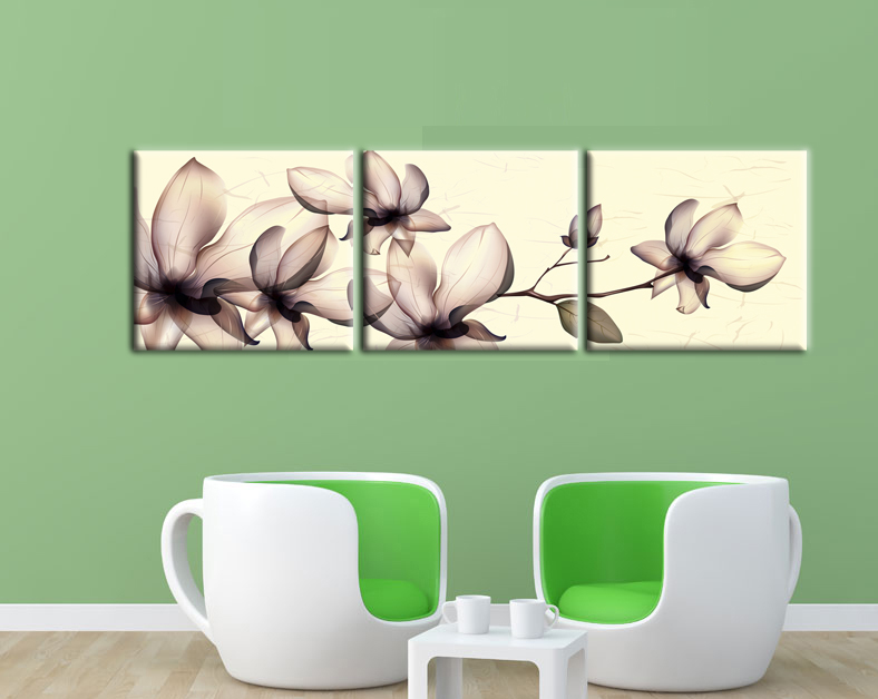 US $4.05 50% OFF|3 Pcs Brown Flicking Flowers Wall Pictures for Living Room  decor modern canvas art wall Paintings Bedroom decorative pictures-in ...