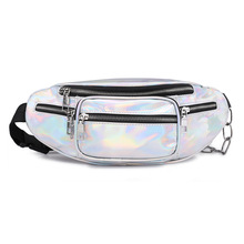 Fanny Pack for Women Belt Bags Bum Bag Waist Female Money Belt Waist Pack Bauchtasche Banana Sac Banane Mobile Pouch Silvery