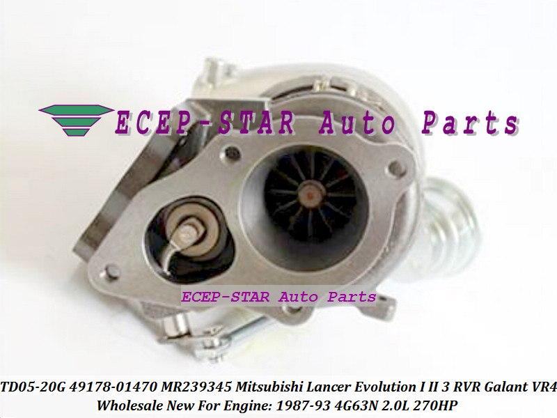 TD05-20G 49178-01470 4917801470 MR239345 Turbo For Mitsubishi Lancer Evolution I II III RVR Galant VR4 1987-93 4G63N 2.0L 270HP (3)