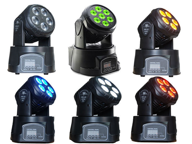 1Pc 5X15W 5in1 RGBWA LED Moving Head DMX Stage DJ Club Party Show 120W Wash 90-240v MINI Moving Head Light Free Ship Stage Lamp