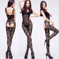 Sexy Lingerie Hot Bodysuit Open Crotch Body Stocking Nightwear Lingerie Women Sex Products Erotic Langerie Chemises