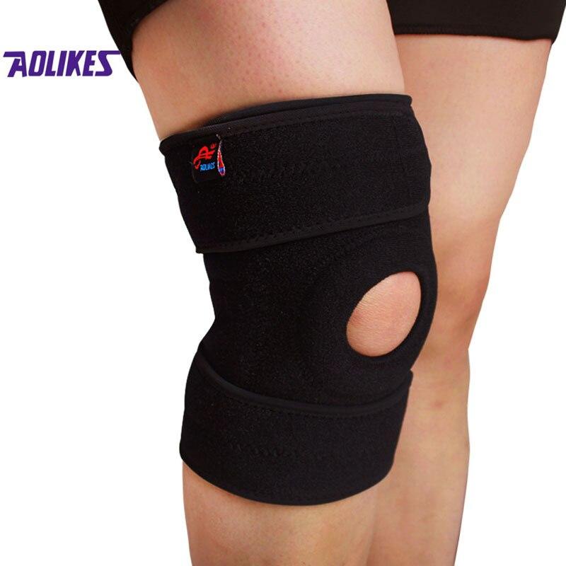 AOLIKES 1PCS Gym Knee Pads Meniscus Protetor Joelho Support Brace Damping Kneepad Rodilleras Tutore Ginocchio