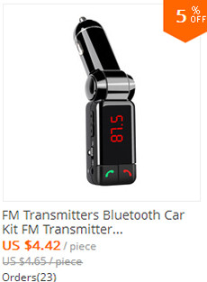 FM Transmitters Bluetooth Car Kit FM Transmitter Handsfree Aux Mp3 Player Modulator with LED Display Portable Dual USB Charger