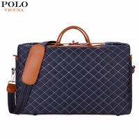 VICUNA POLO Luxury Large Size Brand Mens Travel Bag Burglarproof Rotary Buckle Fashion Travel Shoulder Bag