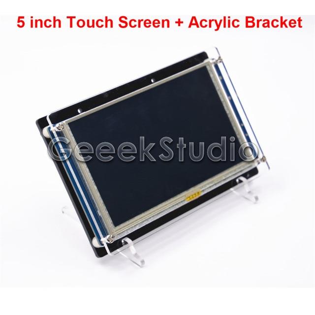 5 Дюймов 840*480 HDMI Резистивный Сенсорный Экран ЖК-Дисплей для Raspberry Pi 3/2 Модель B/B + и Акриловые Кронштейн Держателя
