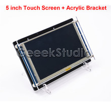 5 Inch 800*480 HDMI Resistive Touch Screen LCD Display for Raspberry Pi 3/2 Model B/B+ and Acrylic Bracket Holder
