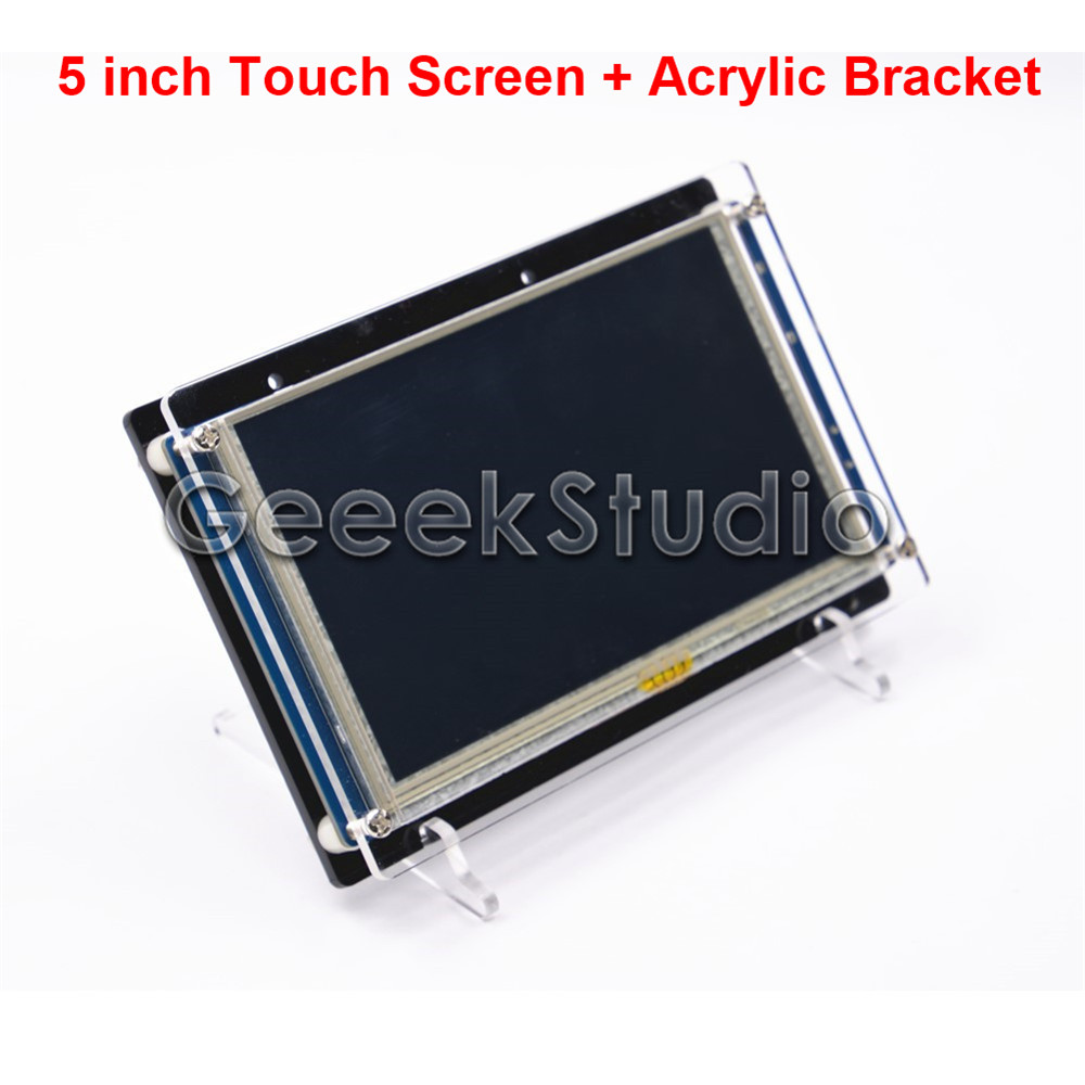 5 Inch 800*480 HDMI Resistive Touch Screen LCD Display with Acrylic Bracket Holder for Raspberry Pi 3 / 2 Model B 3 5 inch touch screen tft lcd 320 480 designed for raspberry pi rpi 2